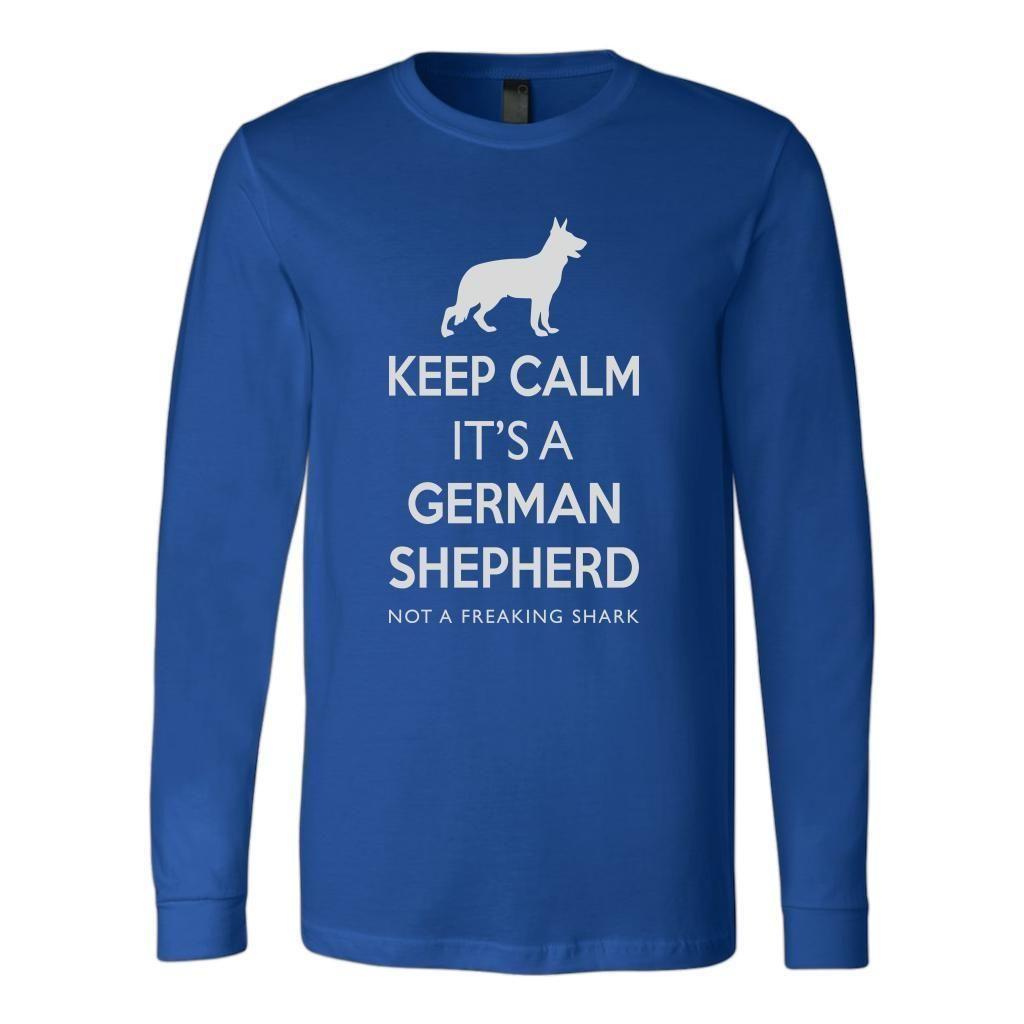 Keep Calm Its A German Shepherd Dog Not A Shark Hoody Sweatshirt