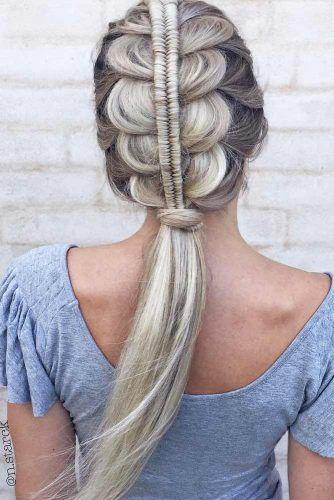 In the braids hair bob