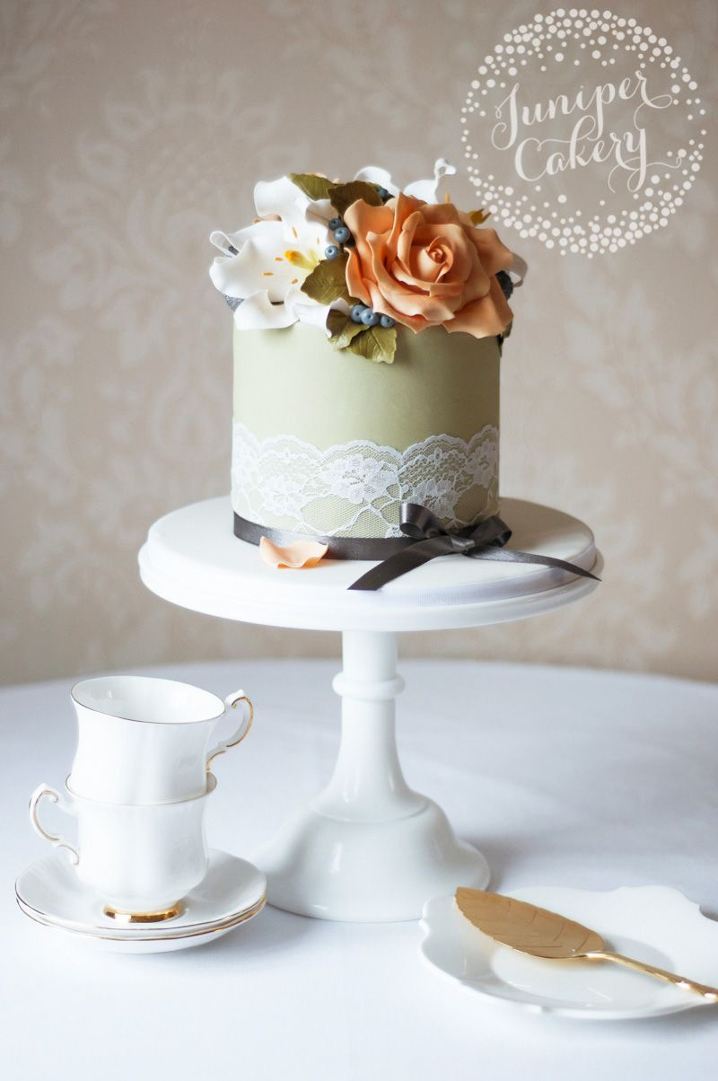 Casablanca lily and rose birthday cake by Juniper Cakery   Cakes ...