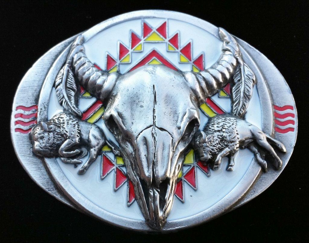 NATIVE AMERICA INDIAN RODEO WESTERN COWBOY BELT BUCKLE