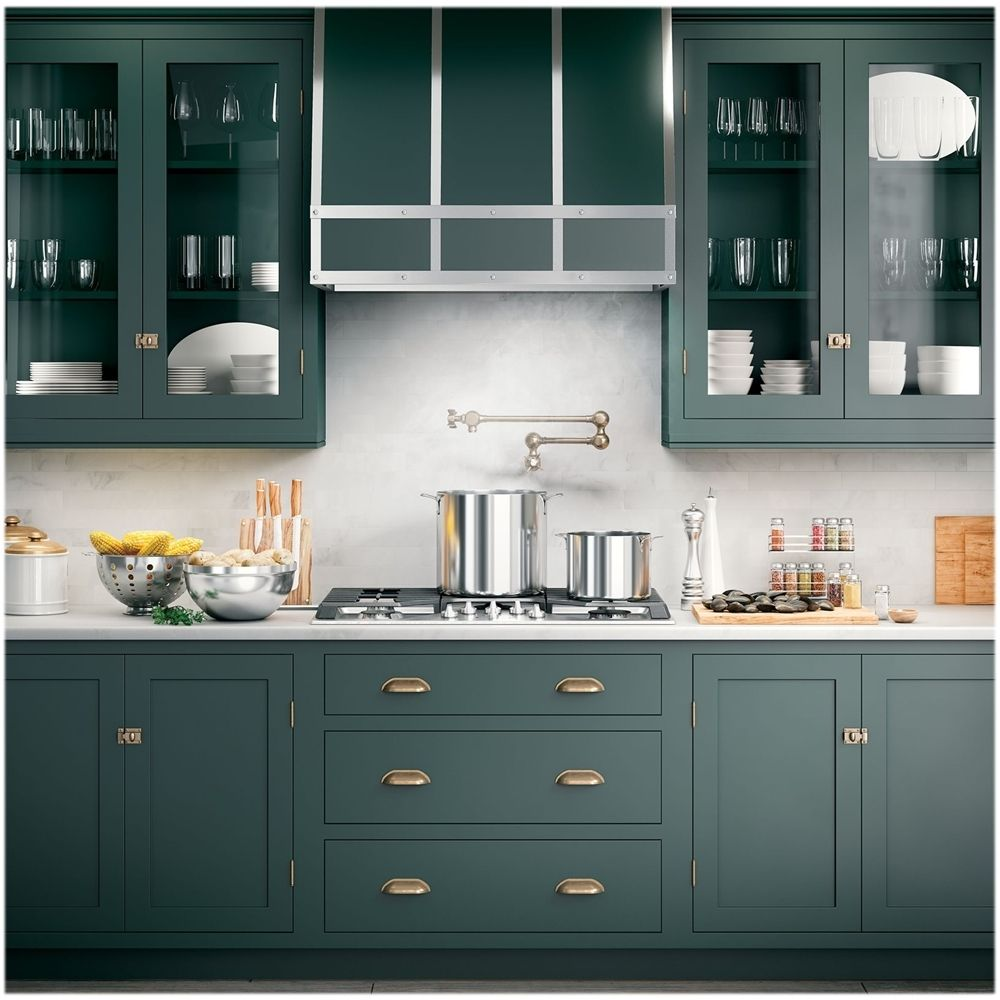 Ge 35 Convertible Range Hood Stainless Steel Uvc9360slss Best Buy In 2020 Green Kitchen Cabinets Kitchen Cabinet Inspiration Kitchen Style
