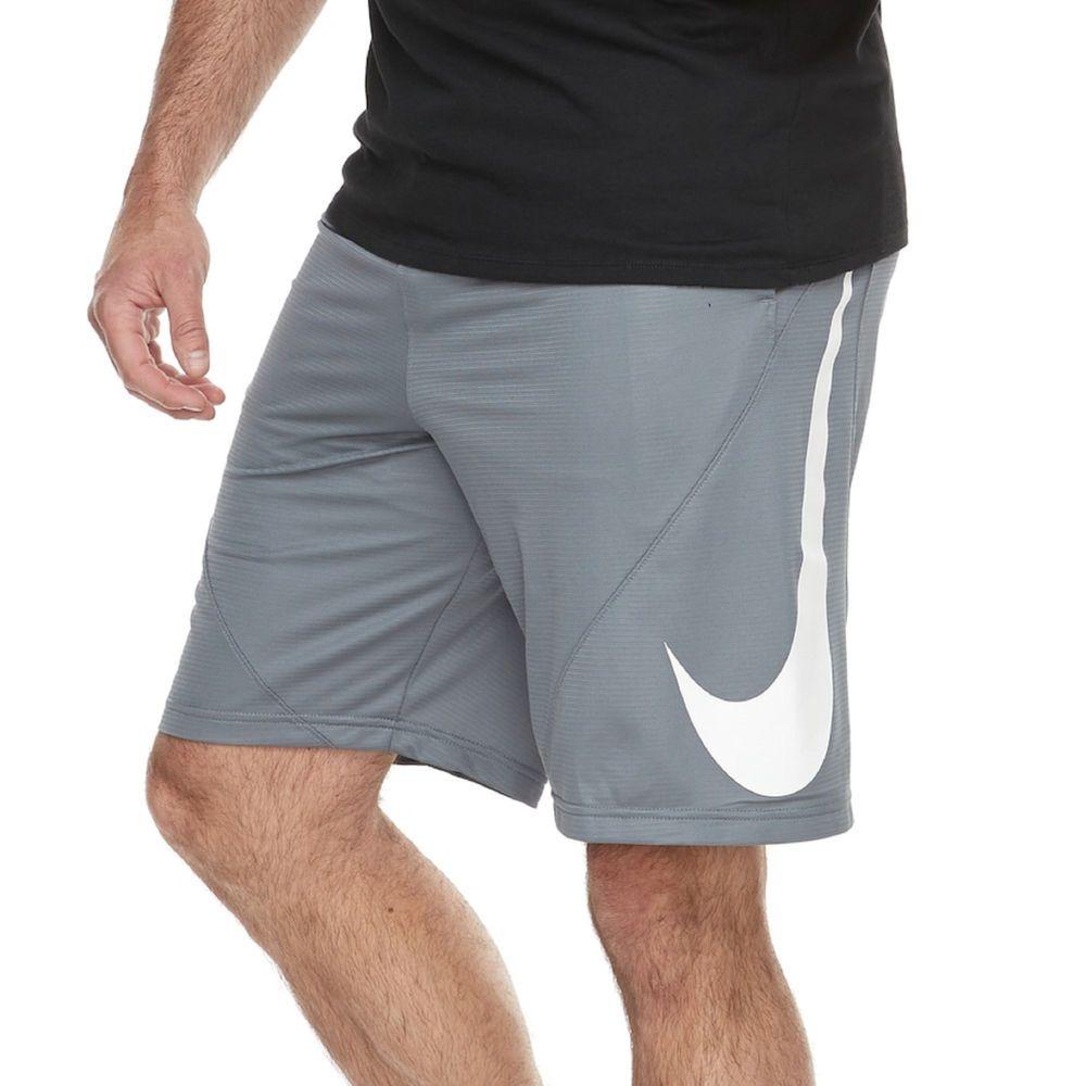 38326c8a29751b NIKE men BT Big SWOOSH Dri-Fit cool grey athletic mesh basketball shorts  3XL NEW  Nike  ActivewearShorts