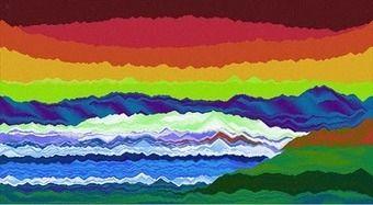 plasticarte: Arenero: Jugando, pintando con arena de colores.