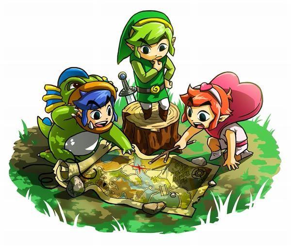 The Legend of Zelda Tri-Force Heroes offical artwork