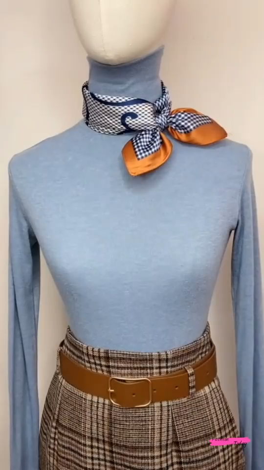 Easy and stylish scarf tutorial 253