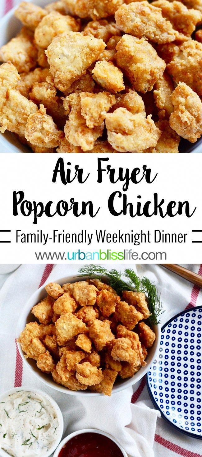 Air Fryer Popcorn Chicken: Make Once, Eat Twice Recipe - Make Once, Eat Twice Recipe on . Perfect for weeknight family dinners and for Game Day bites!