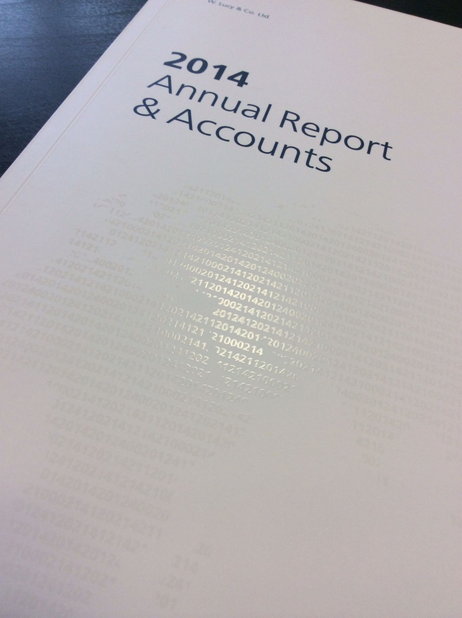 lucy annual reports accounts 2014 with uv spot varnish