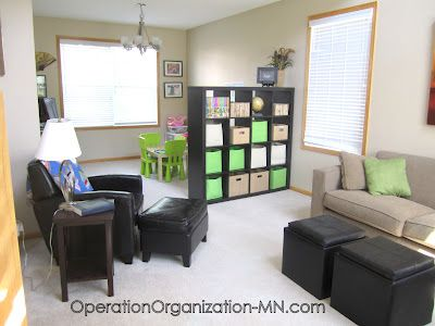 operation organization: organizing small spaces. Perhaps the basement could look like this one day...