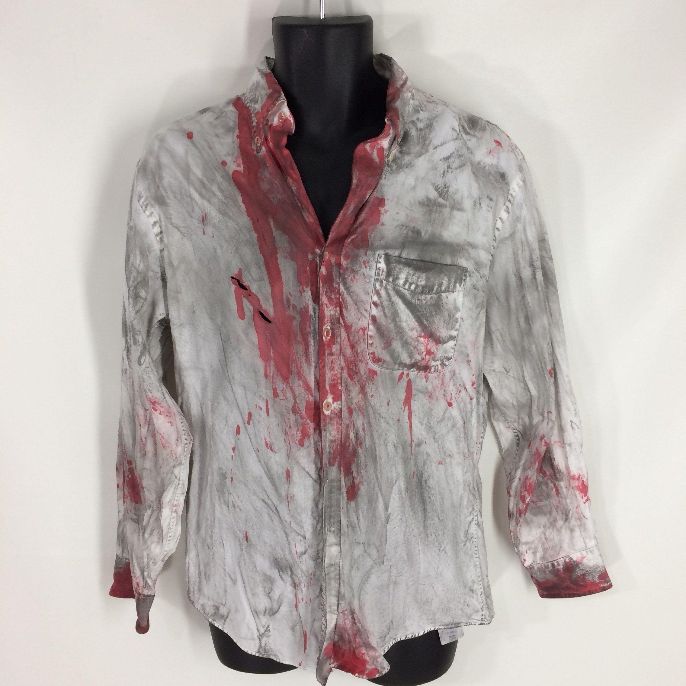 Halloween Costume Man Zombie Shirt XL 40-42