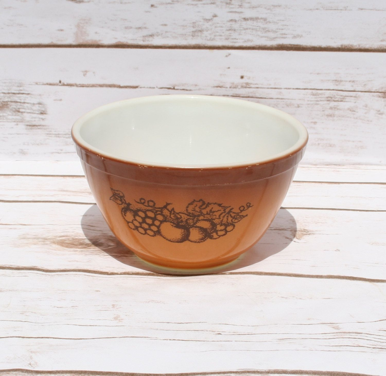 Old Orchard Pyrex Bowl 401 Mixing Bowl Corning Ware Bowl Vintage ...