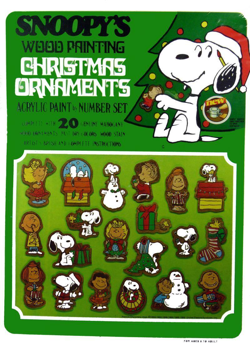 Snoopyus wood painting christmas ornaments christmas ss