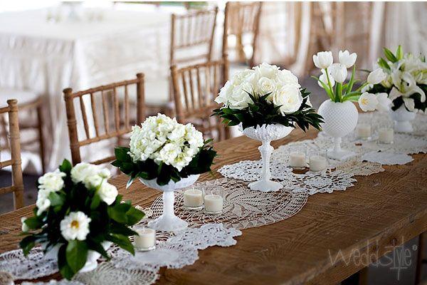 Hakeldecke Tischlaufer Hochzeit Deko Weddstyle Deckchen