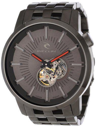 7e003572d8f Rip Curl Men s A2537-GUN Analog Gunmetal Plated Watch. Relógios ...