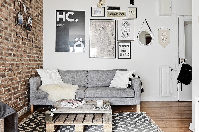 Briques Palettes Et Carreaux De Ciment Dans Un Studio Planete  # Deco En Palettes