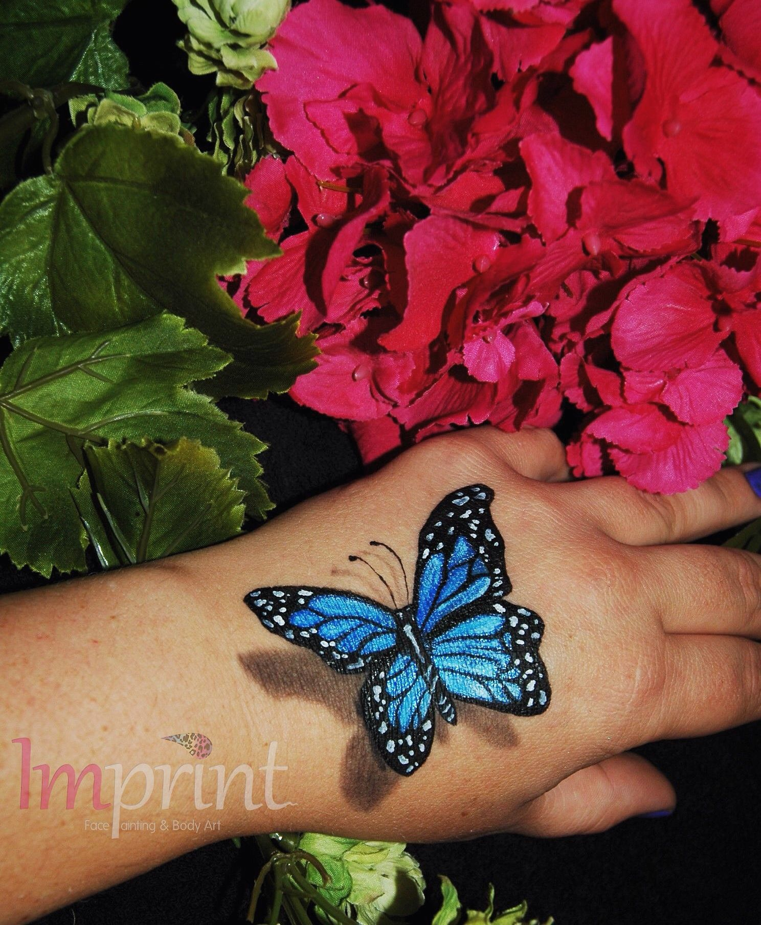 3d Butterfly Body Art