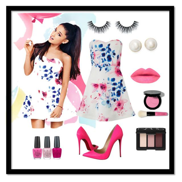 """Ariana Grande Style"" by anitapradhan ❤ liked on Polyvore featuring Lipsy, Christian Louboutin, OPI, Bobbi Brown Cosmetics, NARS Cosmetics and Kate Spade"