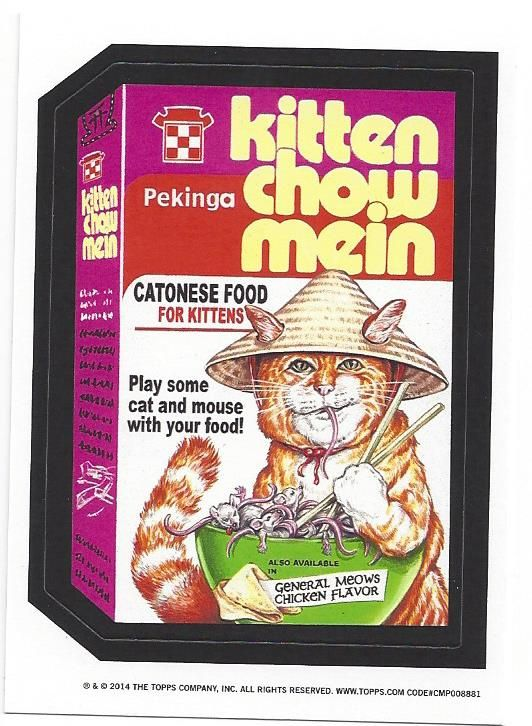 Kitten Chow Mein From Topps Wacky Packages Old School