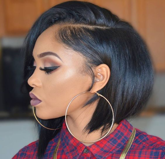 11 Fierce Relaxed Bobs For Black Women Short Hair Styles For Round Faces Front Lace Wigs Human Hair Short Hair Styles
