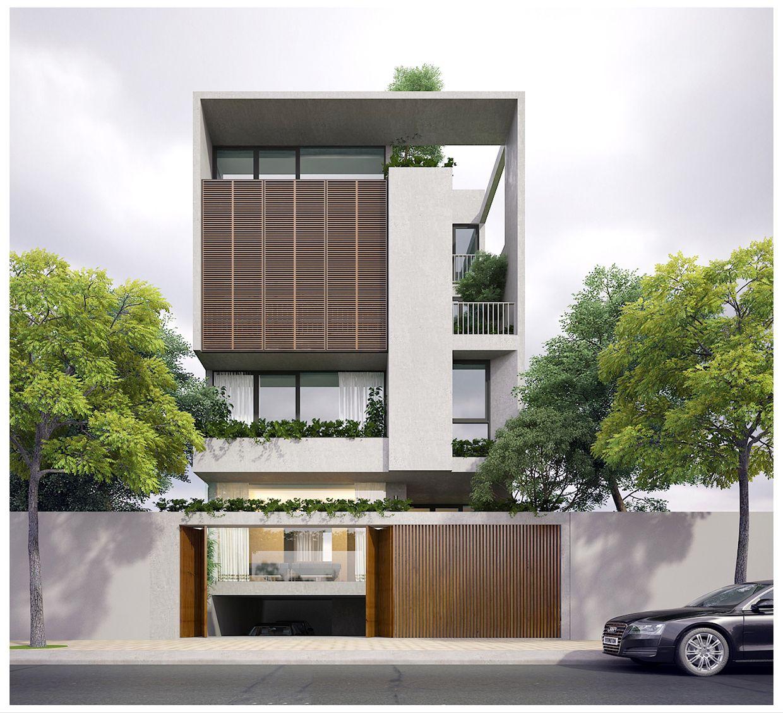 Facade House, Modern House Design