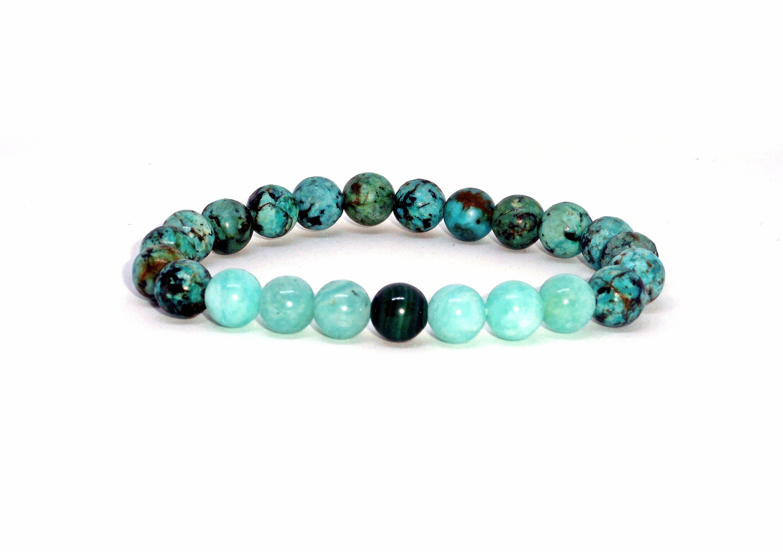 Howlite Jade Bracelet Blue SunStone African Turquoise