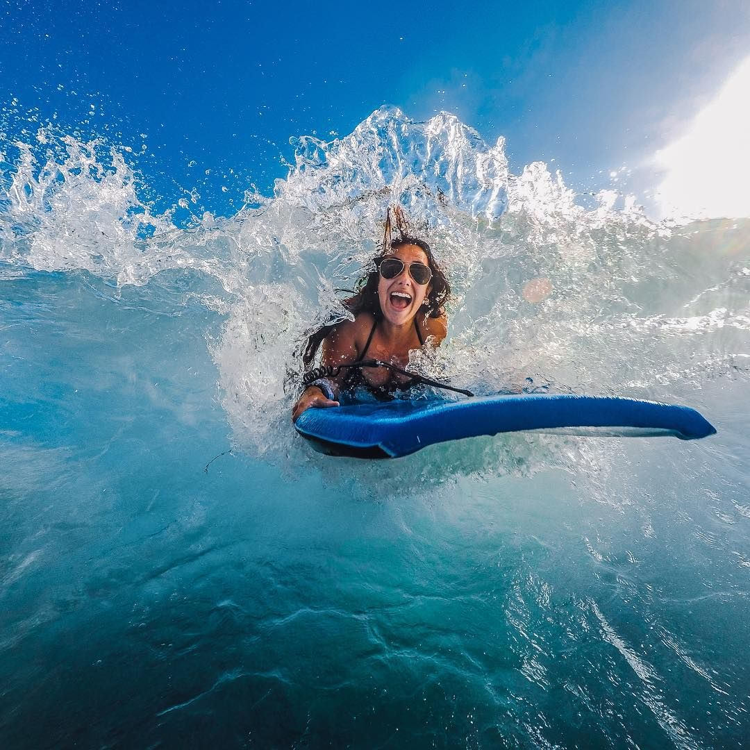 Girls Surfing Wallpaper: All Smiles Out On The Water! #GoPro #GoProGirl