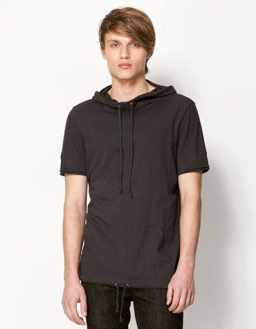 a587a62965 Bershka Saudi Arabia - Hooded pocket T-shirt | i.desire | Hooded ...