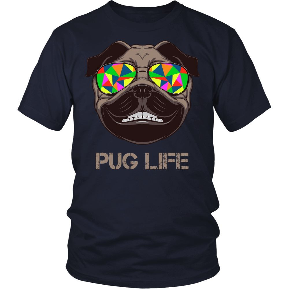 Pug T-shirt, hoodie and tank top. Pug funny gift idea.