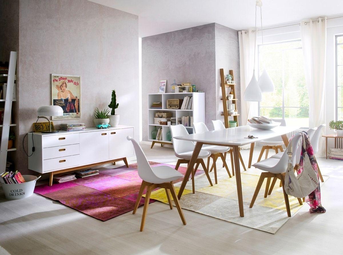 Moderne witte eetkamer, ook verkrijgbaar in het zwart. | Dining in ...