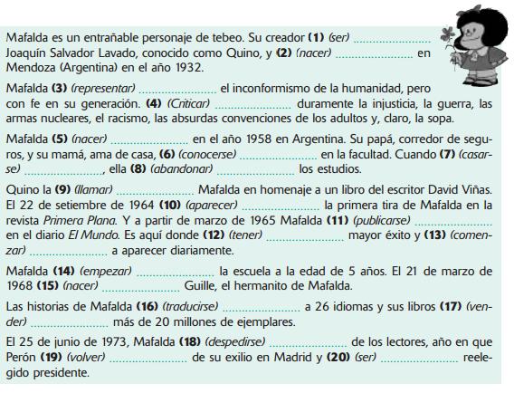 Sara4 Png 568 434 Pixel Pretérito Perfecto Ejercicios De Español Textos En Español