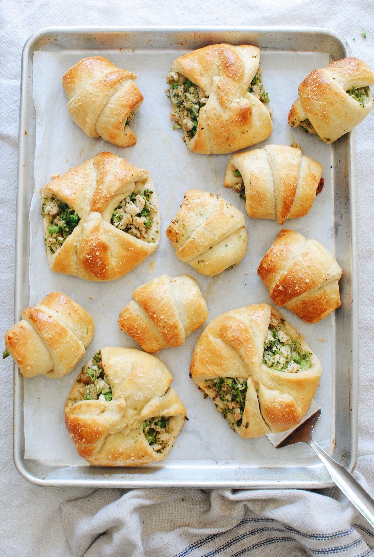 Chicken and Broccoli Stuffed Crescent Rolls