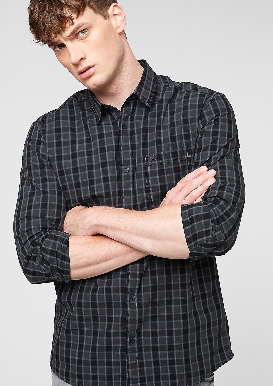 Regular: overhemd met fijne ruiten in het s.Oliver Online Shop