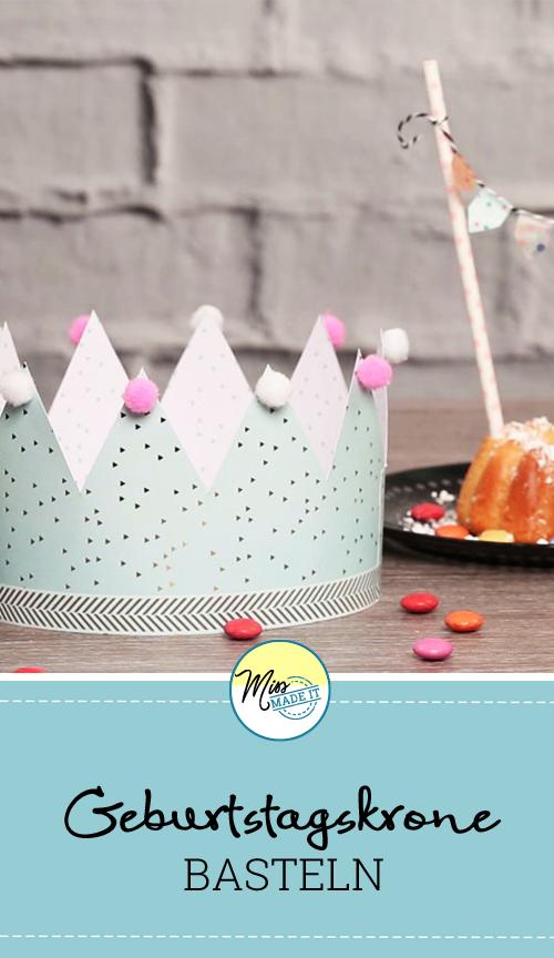 Sehr Geburtstagskrone basteln für kleine Königinnen und Könige | Kinder EC39