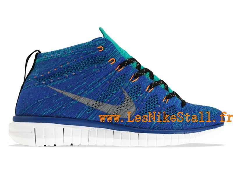 Officiel Nike Free Flyknit Chukka Chaussures Nike Running Pour Homme Game  Royal/Wolf Grey-