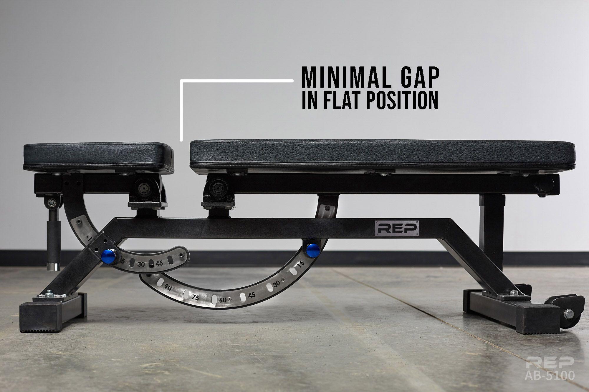 Rep Ab 5100 Adjustable Bench Garage Gym Bench Workout Home Gym Bench
