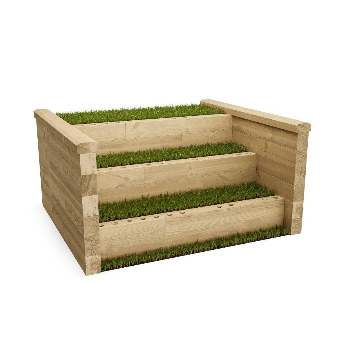 Raised Bed Retaining Wall: Steps / 1.275 X 1.125 X 0.65m