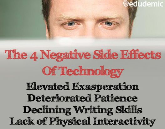 The 4 Negative Side Effects Of Technology - Edudemic Students - instructional technology specialist sample resume