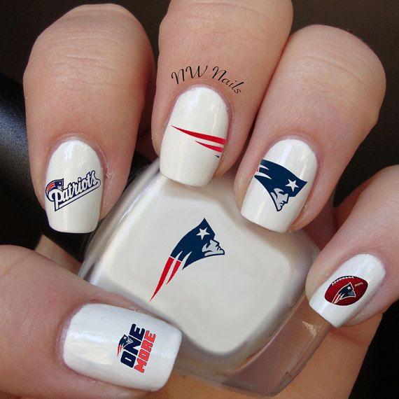 New England Patriots Large Logo Football Nail by NWNailApparel ...