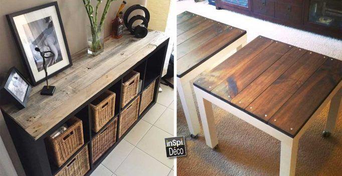 Relooker un meuble IKEA avec des palettes! 20 exemples inspirants - moderniser un meuble en bois