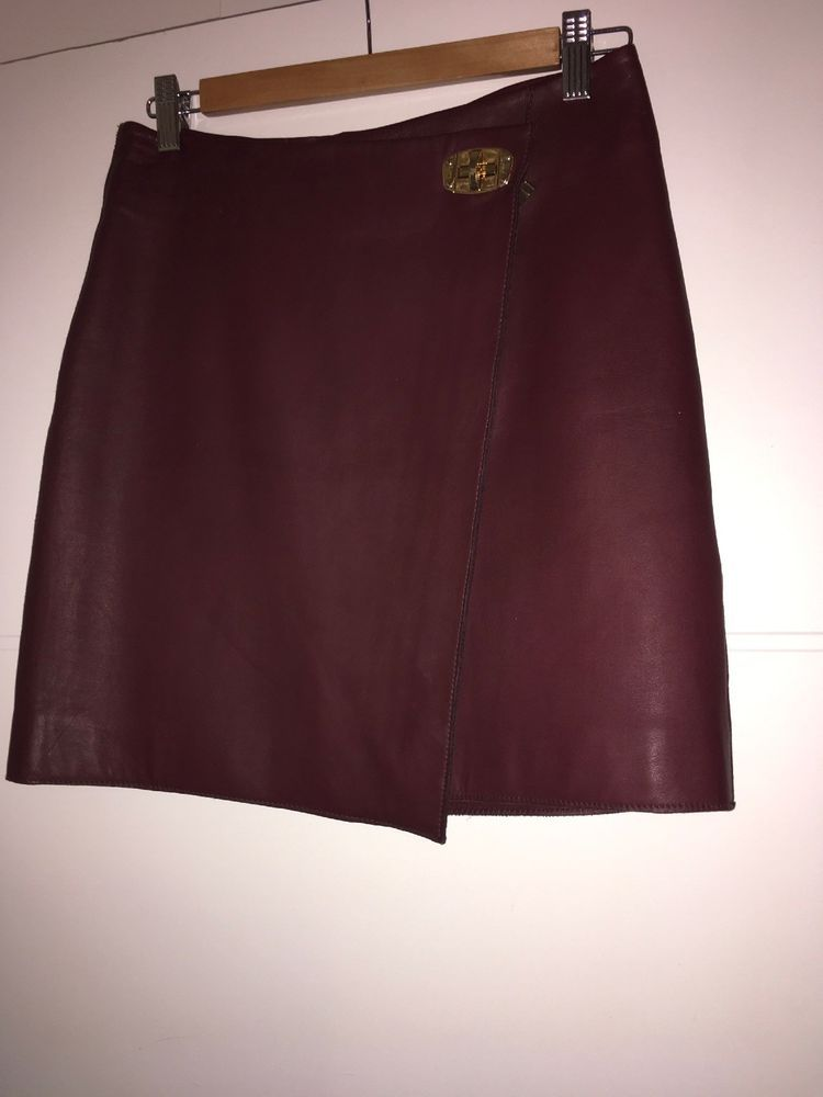 75f054034 REISS ROCKET OX BLOOD LEATHER MINI SKIRT SIZE 8/34 100% GENUINE NWT  #fashion #clothing #shoes #accessories #womensclothing #skirts (ebay link)