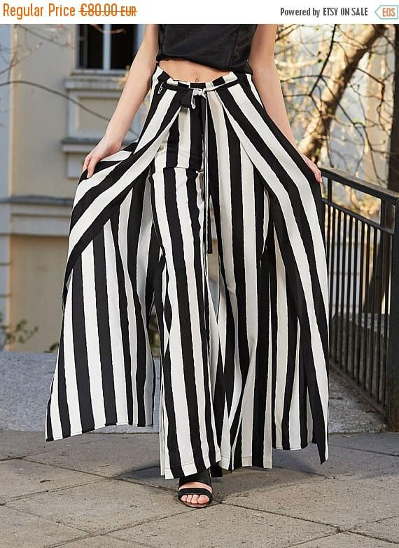 SALE Striped Pants Black And White Pants Extravagant Pants