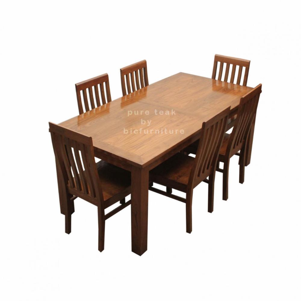 Teak Wood Dining Set In Pure Teak Wood Tws 3 Teak Wood Table And Chairs Teak Wood Furn Wood Dining Table Dining Table Set Designs Wooden Dining Table Set