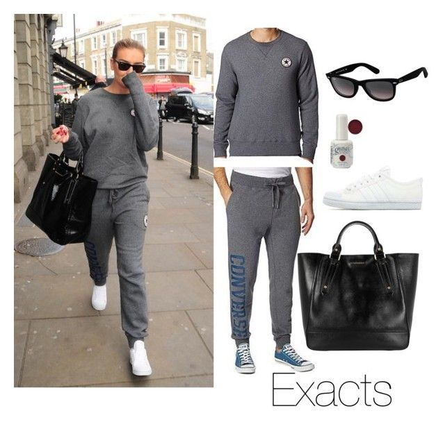 """Perrie Edwards leaving the dance studio (08/04/2015)"" by perriesmakeup ❤ liked on Polyvore featuring Converse, adidas Originals, Ray-Ban and Burberry"