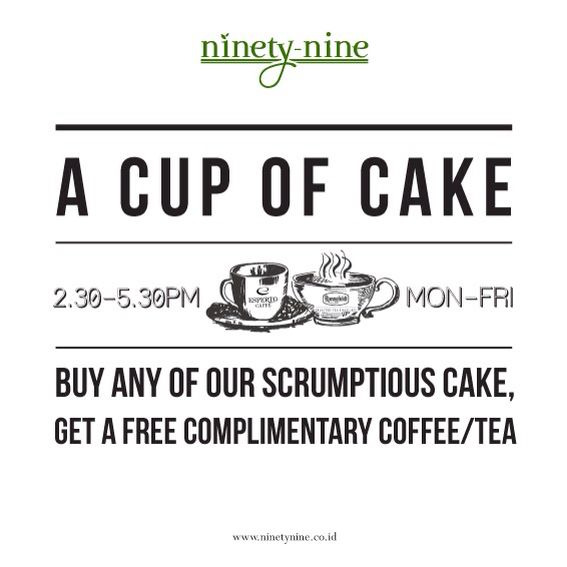 A cup of cake at Ninety Nine restaurant