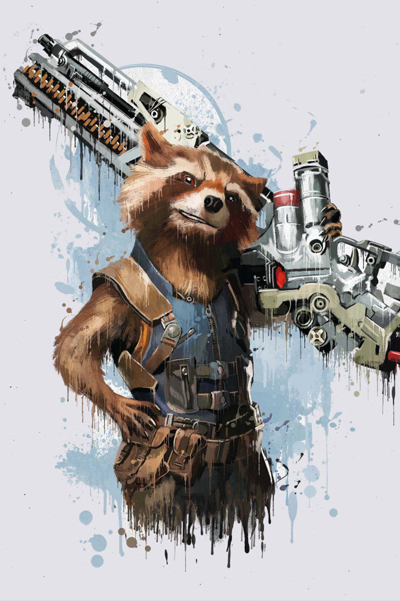 Rocket Raccoon Phone Wallpapers Marvel Rocket Raccoon Raccoon Art Marvel
