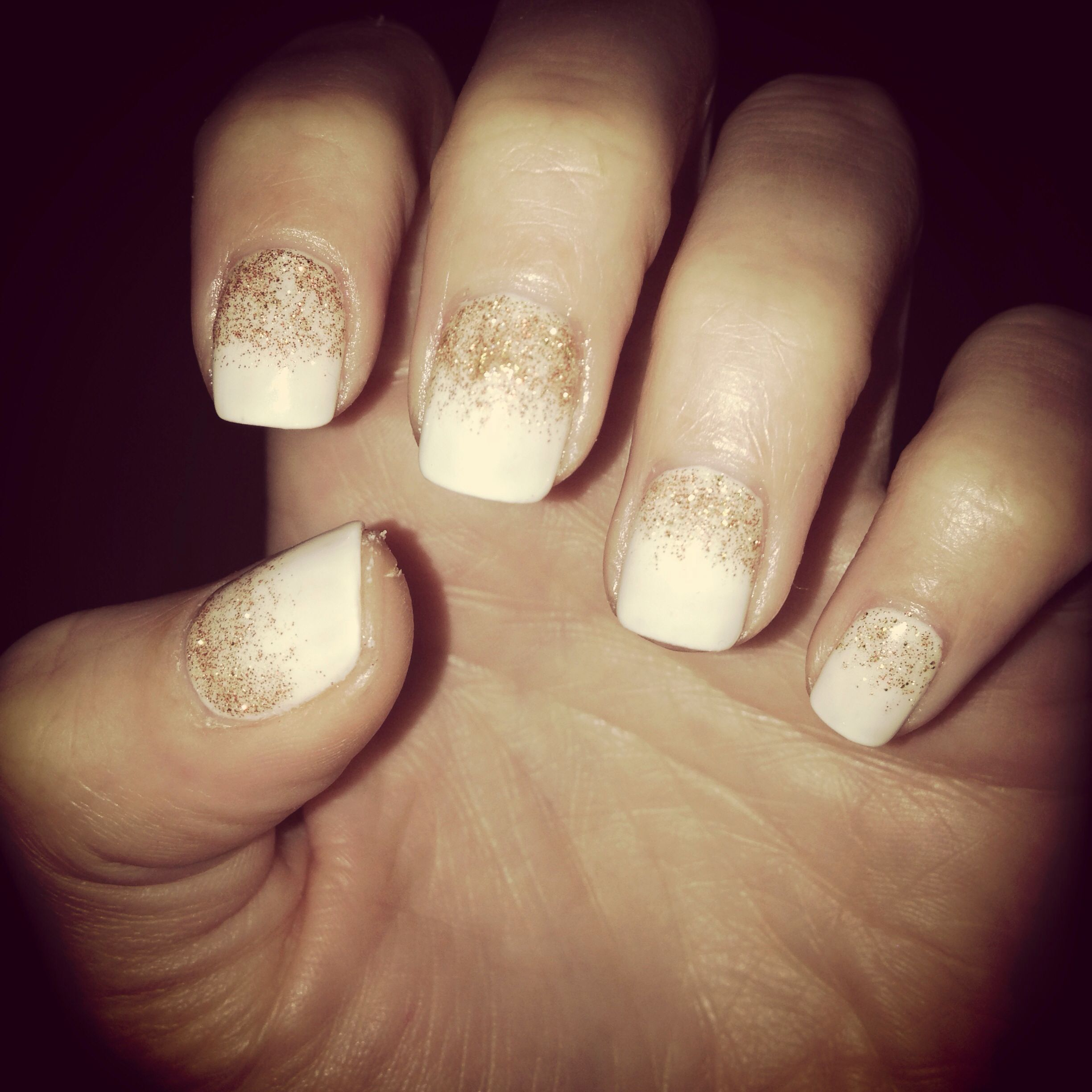 Holiday nails ❤ but with silver | Nail Obsession | Pinterest ...