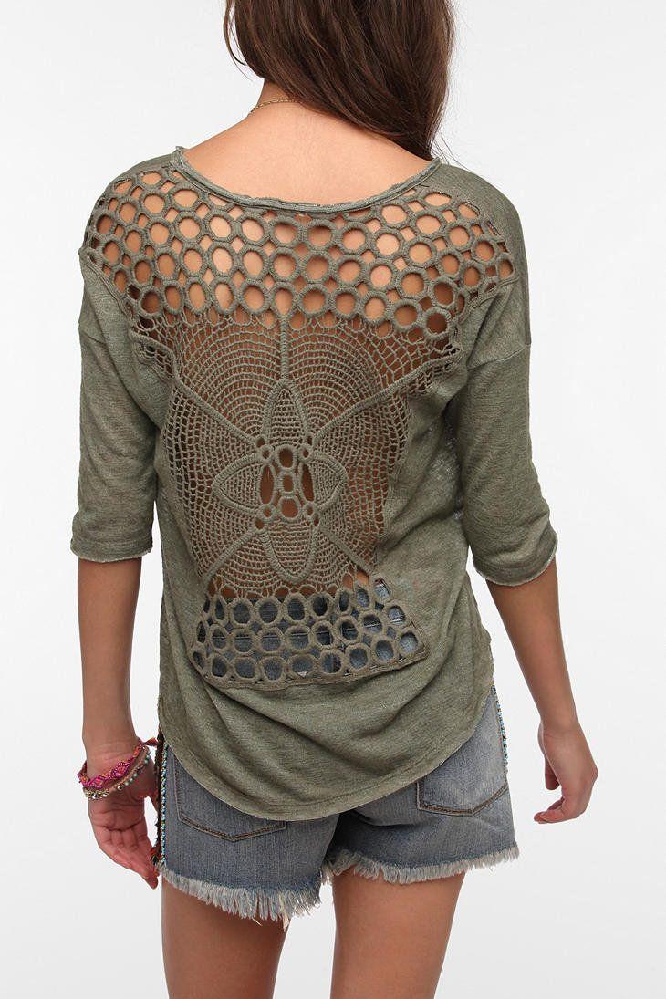 Staring At Stars Crochet Back Sweater