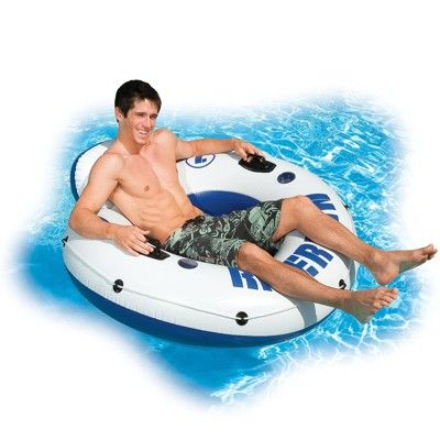 pool chair floats target swivel without back intex river run inflatable float mobile