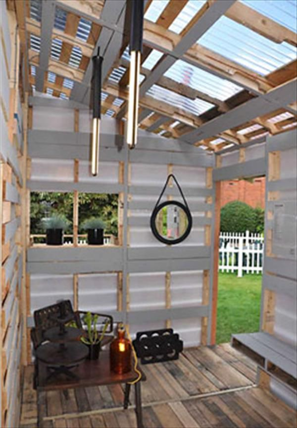 Diy Pallet House Instructions I Beam Design Pallet House Pallets And Beams