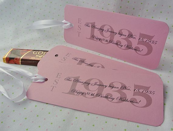 Personalized Candy Bar Wrappers 80th Birthday Favors Adult By Abbey And Izzie Designs