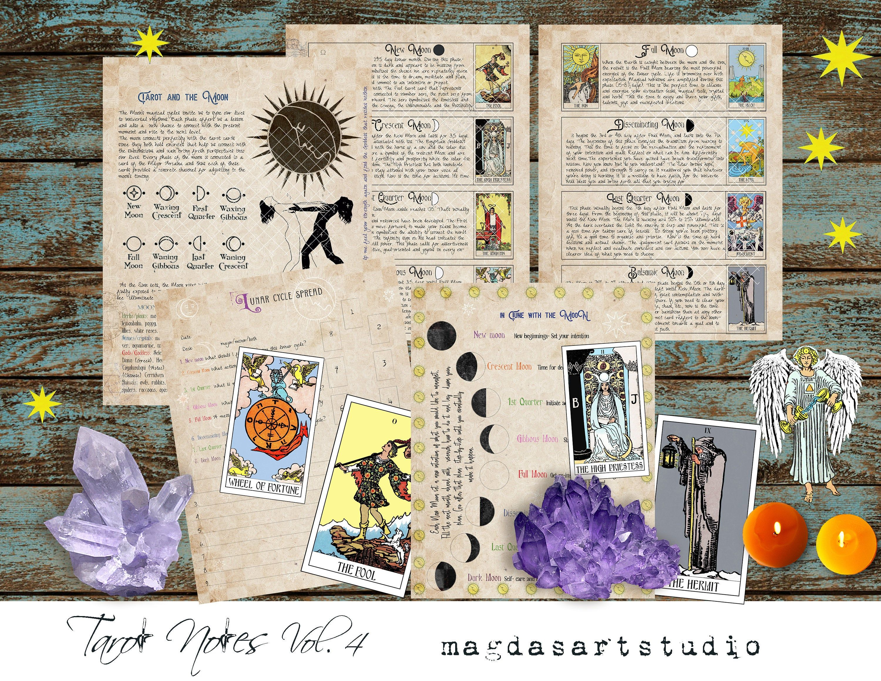Tarot Notes Vol 4 Tarot And The Moon Printable Pages